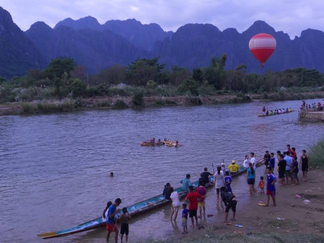 Vang Vieng -  the view from our guesthouse.